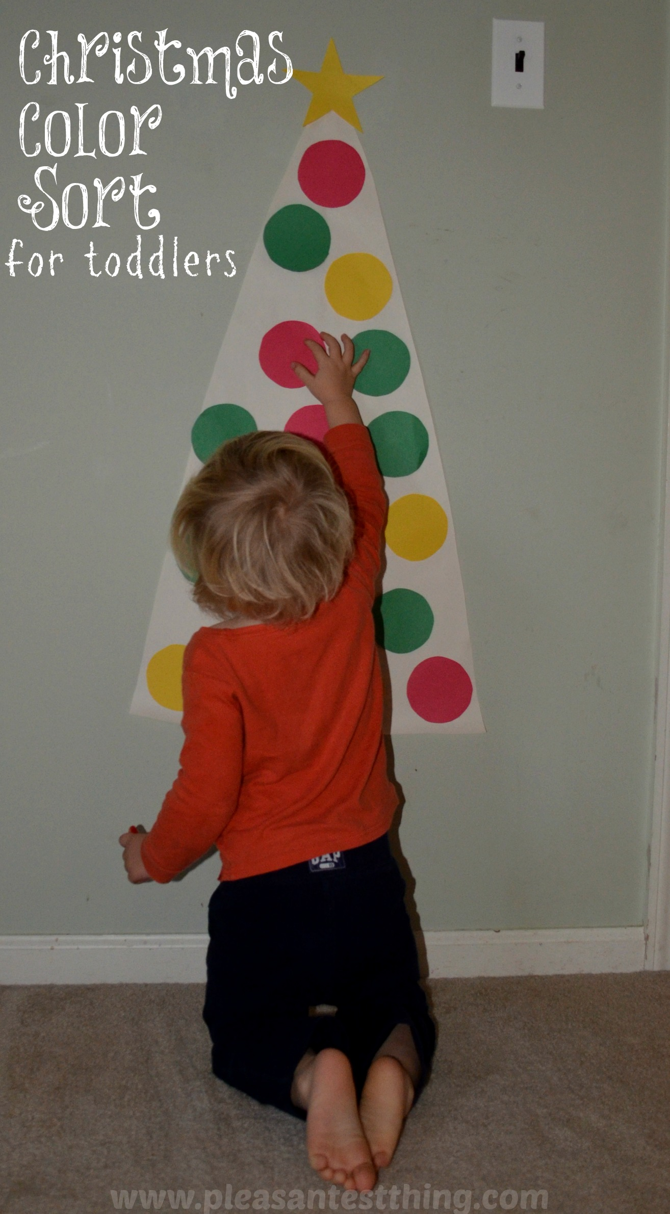 christmas colors toddler game simple play ideas - Color Games For Toddlers