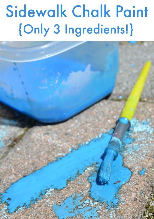 Make Paint Out Of Sidewalk Chalk