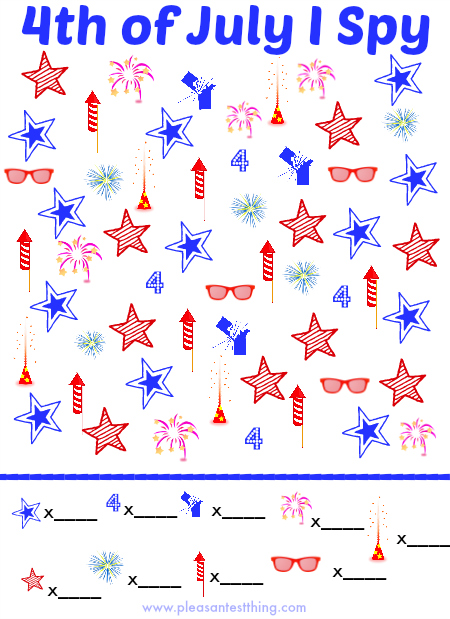4th Of July I Spy Game Simple Play Ideas
