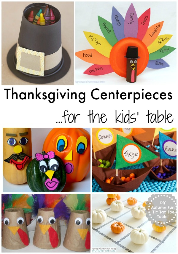 Thanksgiving Centerpieces For The Kids Table Simple