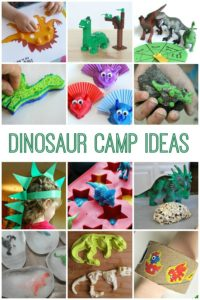 Ideas for a dinosaur camp! Easy to make on your own and so much fun for little dino-lovers!