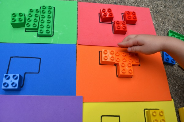 Easy block puzzle - fun logic and color practice and easy busy bag!