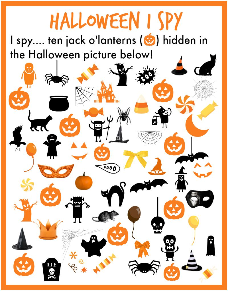 photo regarding Halloween Hidden Pictures Printable known as Halloween seem and locate illustrations or photos
