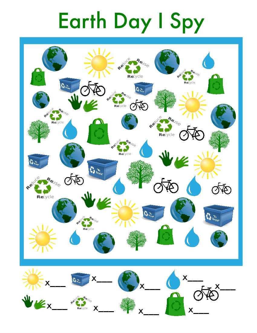 Earth Day I Spy Game to Print u0026 Play - Simple Play Ideas