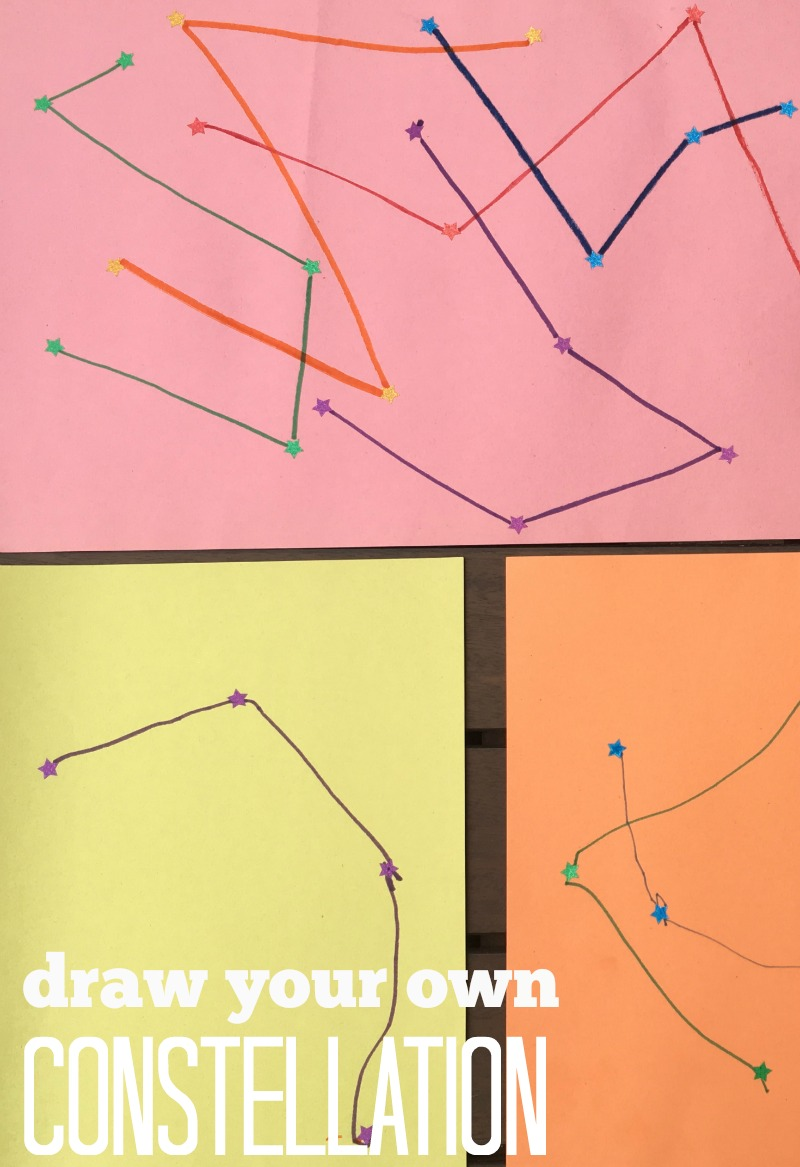 Draw constellations - a creative and fun way to work on fine motor skills!
