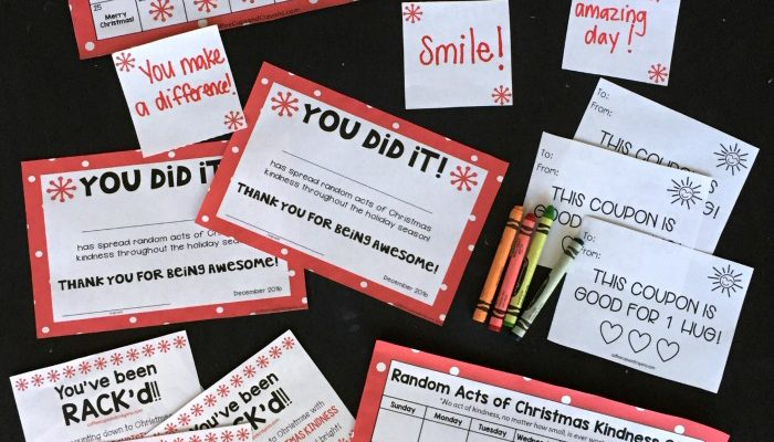 Random Act of Christmas kindness advent calendar